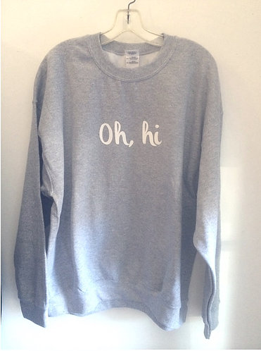 Oh,Hi Ojai Crew Neck Pullover Sweatshirt