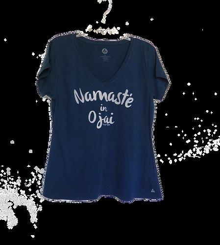 Namaste in Ojai v neck T Shirt