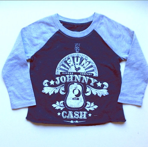 Johnny Cash Baby Baseball T-shirt