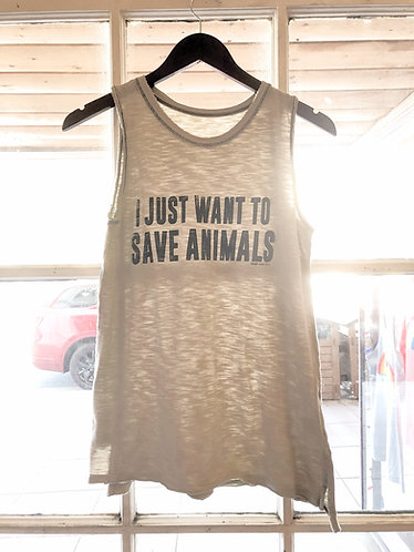 I Just Want To Save Animals Muscle Tank