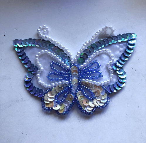 Blue Butterfly Iron on Patch
