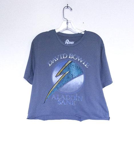 David Bowie Crop Aladdin Sane Tee Shirt