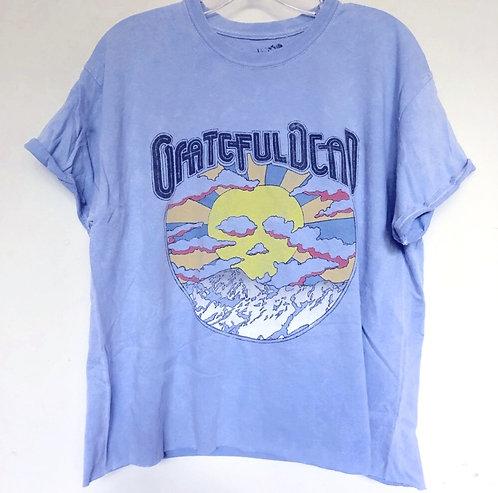 Grateful Dead Blue Crop T Shirt