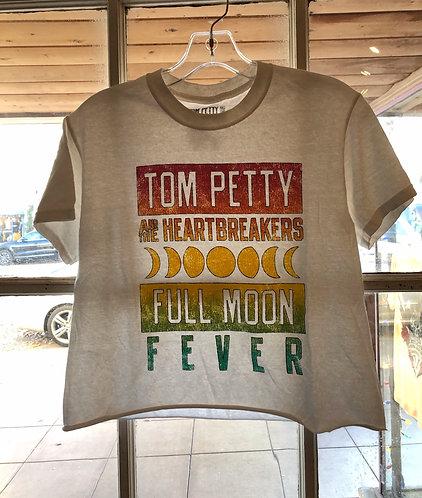 Tom Petty Full Moon Fever Crop Tee Shirt