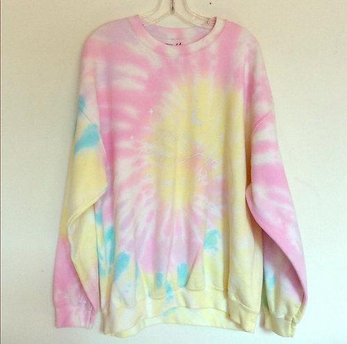 Camp Ojai Starry Night Tie Dye Sweatshirt