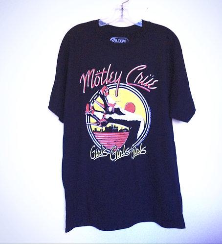 Motley Crue Girls Girls Black T shirt
