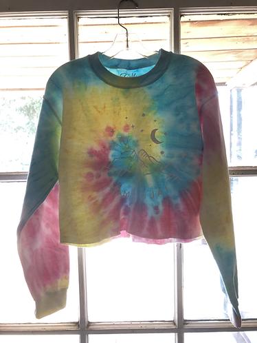 Starry Night Camp Ojai Tie Dye  Crop Sweatshirt