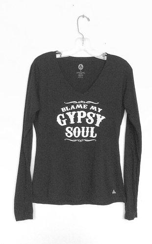 Blame My Gypsy Soul Long Sleeve T Shirt