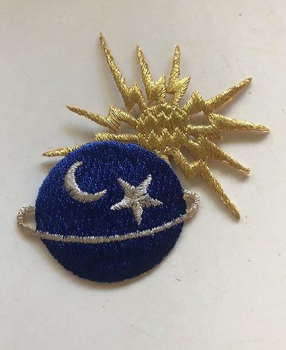 Moon Sun Planet Star Lightning Bolt Patch