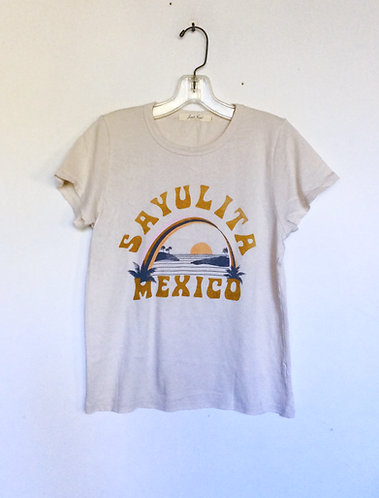 Sayulita Mexico Distressed Tee Shirt