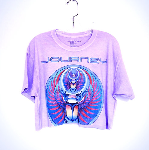 Journey Cropped Band T SHIRT