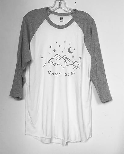 Camp Ojai 3/4 Sleeve Raglan T Shirt