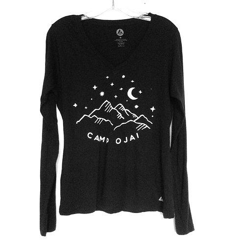 Ojai Starry Night V neck Long Sleeve  T Shirt