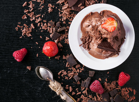 low carb : chocolate covered strawberry ice cream