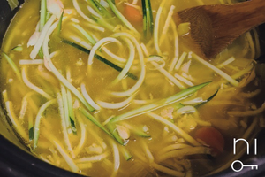 low-carb: chicken zucchini noodle soup recipe