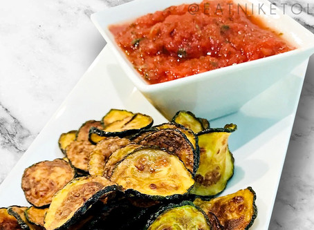 low carb : zucchini nacho chips