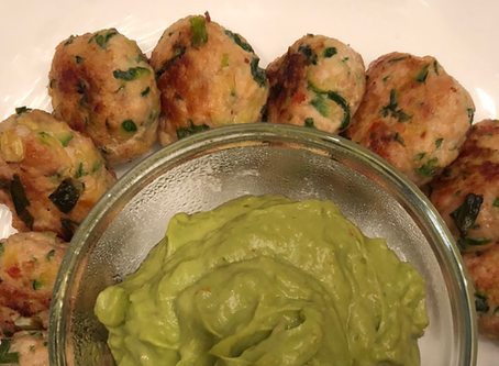 low carb : chicken zucchini poppers