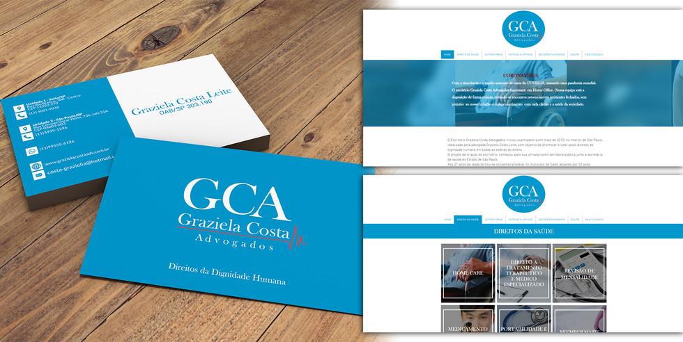 Graziela Costa Advogados Logo & Site