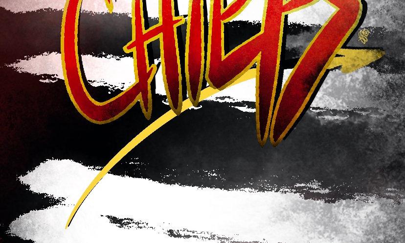 Chiefs Grungey Paint Wallpaper