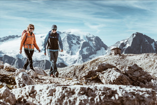Одежда и снаряжение для треккинга и туризма в Доломитовых Альпах