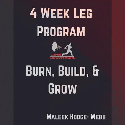 4 Week Glute & Legs Program