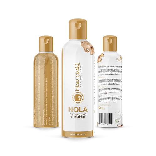 NOLA All-In-One Detangling Shampoo, 8 oz