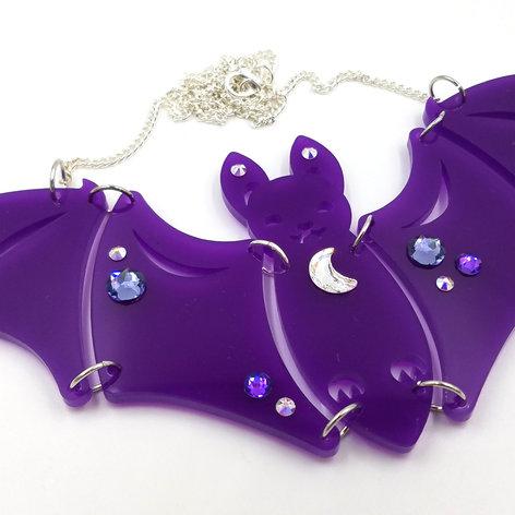 Bat Statement Necklace