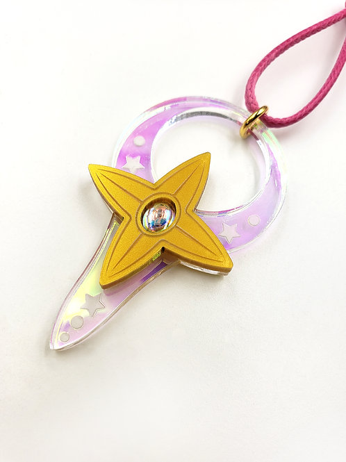 Staff of Mica - She-Ra inspired Laser Cut Acrylic Necklace