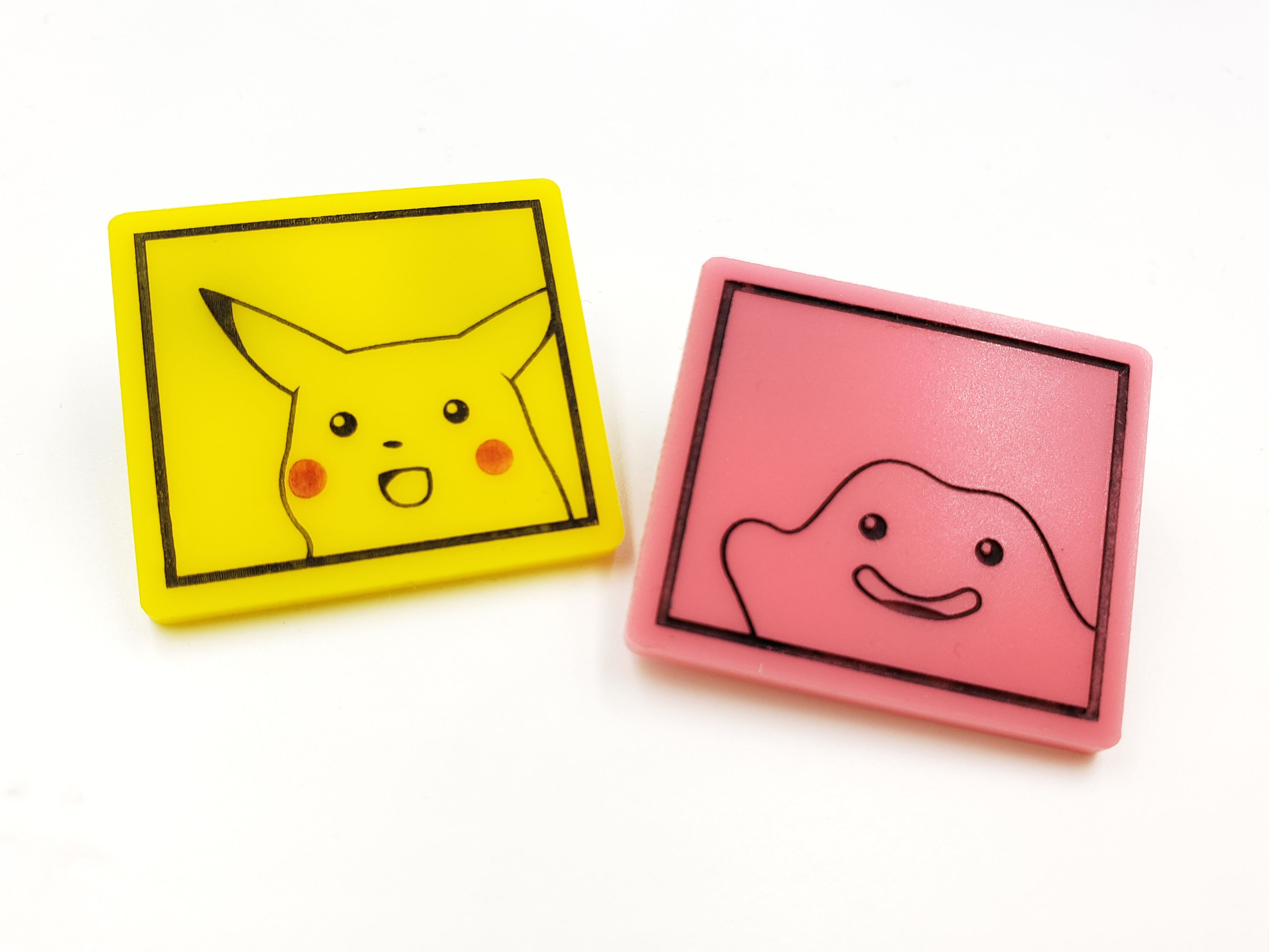 Surprised Pikachu and Ditto Pins