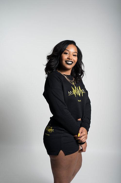 MVB Comfy Cropped Sweater (Black)