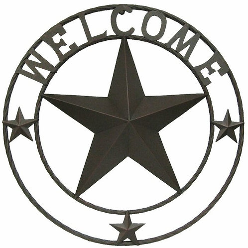 Star Welcome Sign Metal Wall Décor