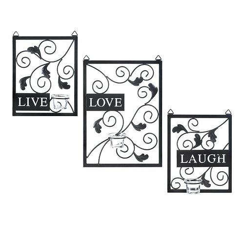3 Piece Live Love Laugh Wall Décor Set