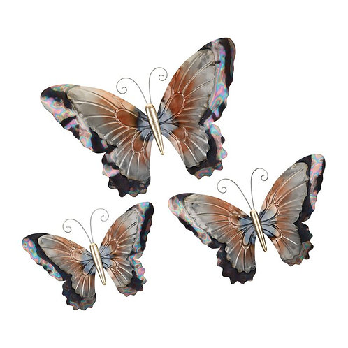 3 Piece Metal Butterflies Wall Décor