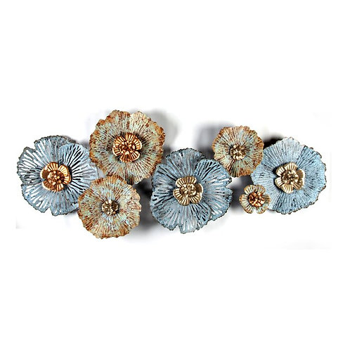 Distressed Flowers Metal Wall Décor