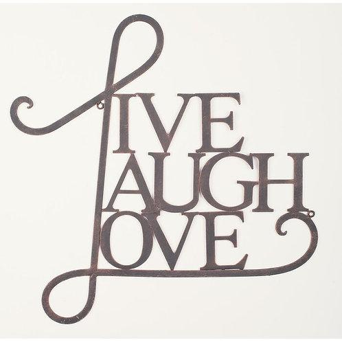 Metal Live, Laugh, Love Wall Décor