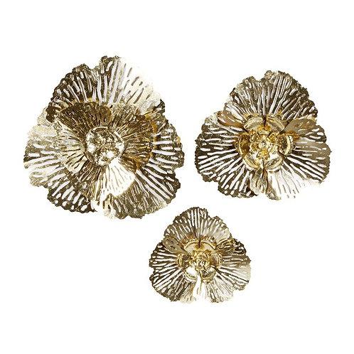 3 Piece Floral Metal Wall Décor Set