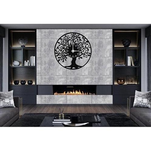 Metal Wall Clock Tree of Life Decor