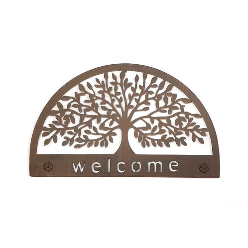 Tree Welcome Sign Metal Wall Décor