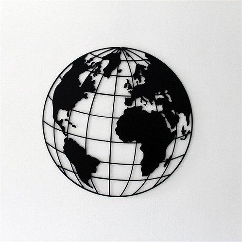 World Map Metal Wall Décor
