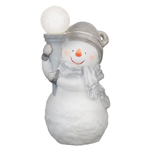 Snowman Metal Statue Decor