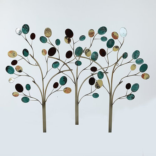 Contemporary Metal Trees Wall Décor