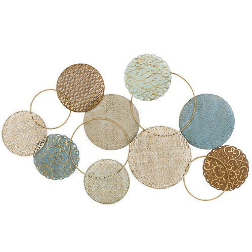 Circles And Rings Metal Wall Décor