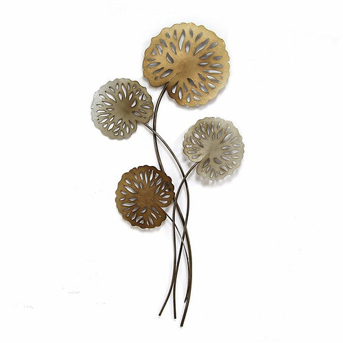 Large Flowers Metal Wall Décor