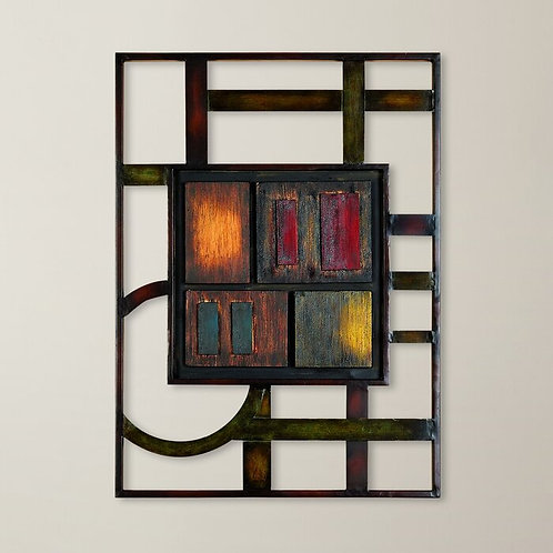 Abstract Framed Metal Wall Décor