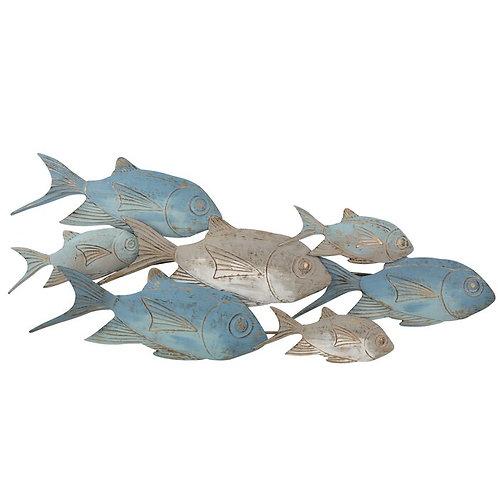Metal Schooling Fish Wall Décor