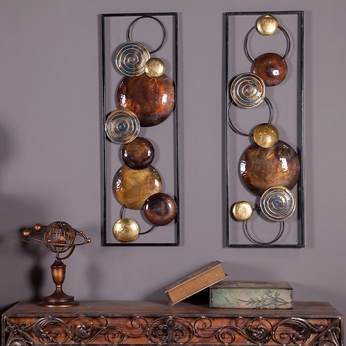 2 Piece Metal Wall Décor Set  2 Piece Metal Wall Décor Set  2 Piece Metal Wall D