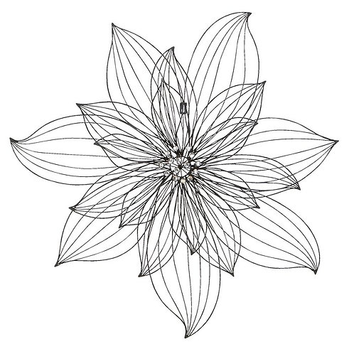 Large Flower Metal Wall Décor