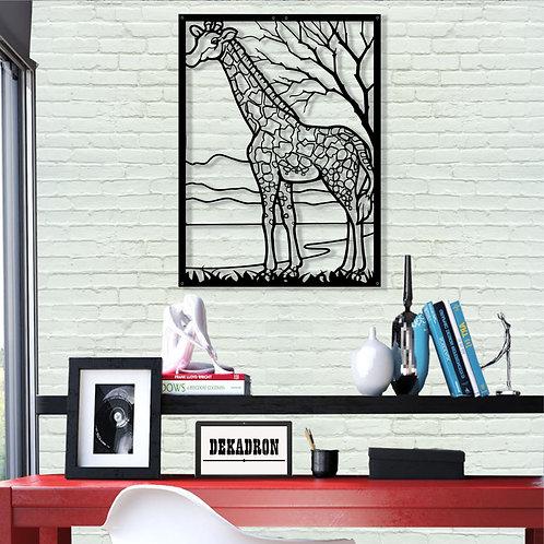 Framed Giraffe Metal Wall Decor