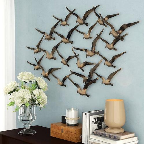 Flock Of Birds Metal Wall Décor