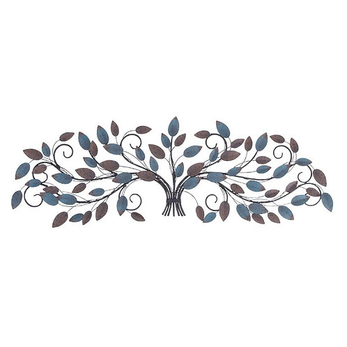 Colorful Leaves Tree Metal Wall Decor